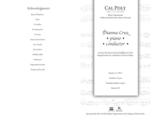 Dianna Cruz-Senior Recital Program