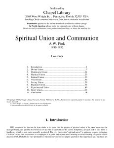 Spiritual Union and Communion