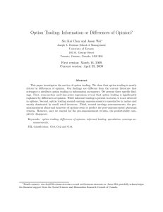 Option Trading: Information or Differences of