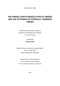 THE FRIEDEL-CRAFTS BENZYLATION OF ARENES AND THE
