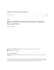 Black and White Disenfranchisement: Populism, Race, and Class