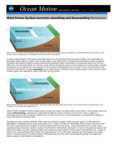 Wind Driven Surface Currents: Upwelling and Downwelling
