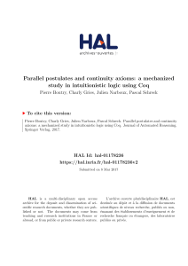 Parallel postulates and continuity axioms: a mechanized study in