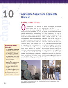 1O >>Aggregate Supply and Aggregate Demand