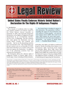 Vol. 36, No. 1 - Native American Rights Fund