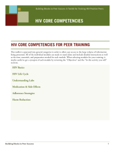 Building Blocks to Peer Success: A Toolkit for Traibning HIV