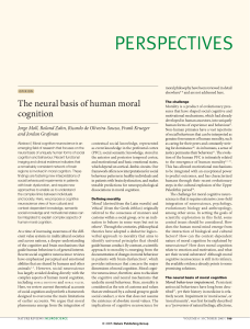 The neural basis of moral cognition