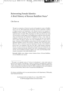 Reinventing Female Identity: A Brief History of Korean Buddhist Nuns*