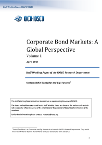 SWP4: Corporate Bond Markets (Vol 1) - A global perspective