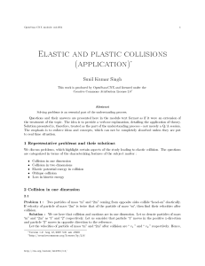 Elastic and plastic collisions (application)