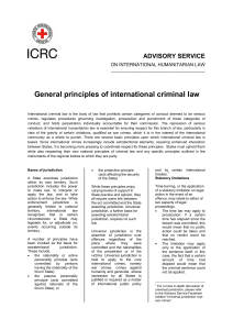 General principles of international criminal law