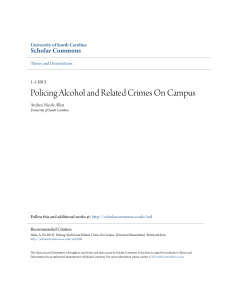 Policing Alcohol and Related Crimes On Campus