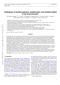 Catalogues of isolated galaxies, isolated pairs, and isolated triplets