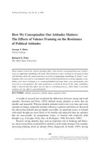 How We Conceptualize Our Attitudes Matters: The Effects of Valence