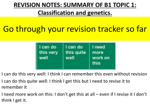 Revision PowerPoint B1 Topic 1 Foundation