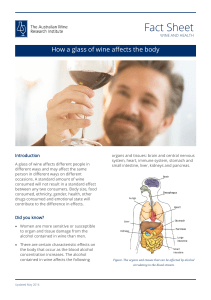 How a glass of wine affects the body