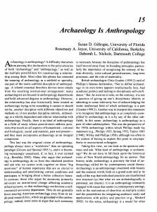 Archaeology Is Anthropology - CLAS Users