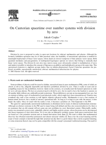 On Cantorian spacetime over number systems with division by zero
