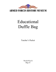Educational Duffle Bag - Armed Forces History Museum