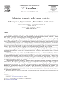 Subduction kinematics and dynamic constraints
