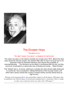 The Einstein Hoax