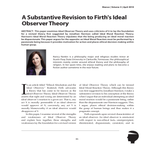 A Substantive Revision to Firth`s Ideal Observer Theory
