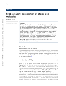 Rydberg-Stark deceleration of atoms and