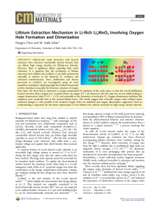 Lithium Extraction Mechanism in Li-Rich Li2MnO3 Involving Oxygen