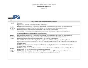 Social Studies: World History and Civilization Pacing Guide 2015