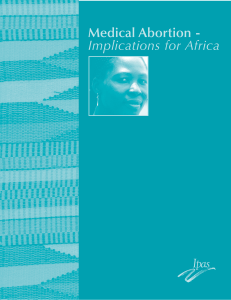 Medical abortion - Implications for Africa