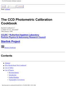 The CCD Photometric Calibration Cookbook