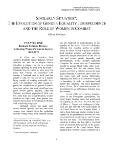 Similarly Situated?: The Evolution of Gender