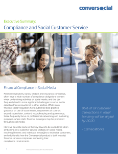 Compliance and Social Customer Service