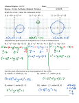 Review – Circles, Parabolas, Midpoint, Distance 4/10/15 Graph the