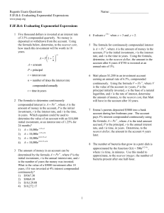 F.IF.B.4: Evaluating Exponential Expressions
