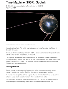 Time Machine (1957): Sputnik