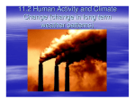 11.2 Human Activity and Climate Change (change in long term