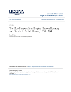 Empire, National Identity, and Gender in British Theater, 1660-1790