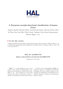 A European morpho-functional classification of humus forms