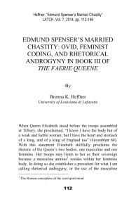edmund spenser`s married chastity: ovid, feminist