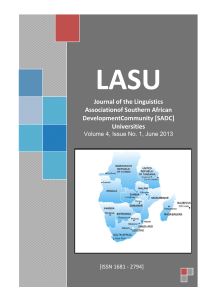 LASU Journal Vol 4 Issue 1 2013 - Southern African Development