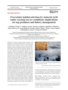 Overwinter habitat selection by Antarctic krill under varying sea