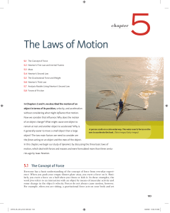 The Laws of Motion - Seattle Central College