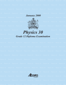 Physics 30 January 2000