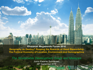 The Sustainable Development Goals and Malaysia