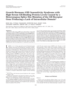 Growth Hormone (GH) Insensitivity Syndrome with High Serum GH