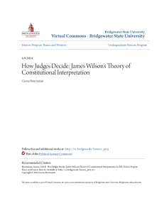 James Wilson`s Theory of Constitutional Interpretation