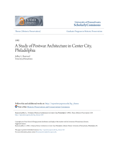 A Study of Postwar Architecture in Center City, Philadelphia