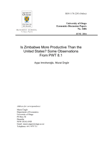 Is Zimbabwe More Productive Than the United States? Some