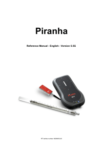 Piranha Reference Manual - English - 5.5G